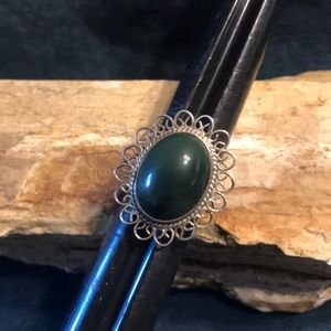 Jewelry - Vintage Sterling and Jade Ring
